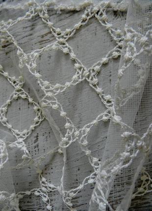Тюль вышивка на сетке хатем hatem турция