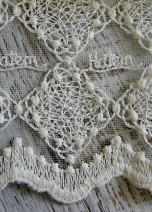 Тюль вышивка на сетке хатем hatem турция2
