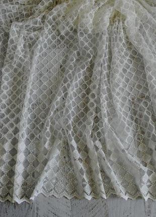 Тюль вышивка на сетке хатем hatem турция3