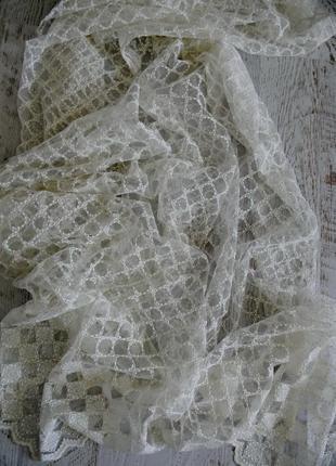 Тюль вышивка на сетке хатем hatem турция4