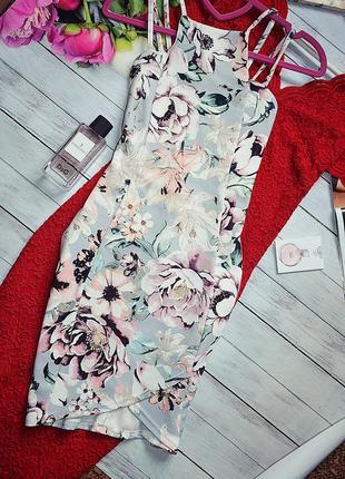 Шикарное платье в цветы