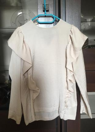 Блузка с воланами h&m
