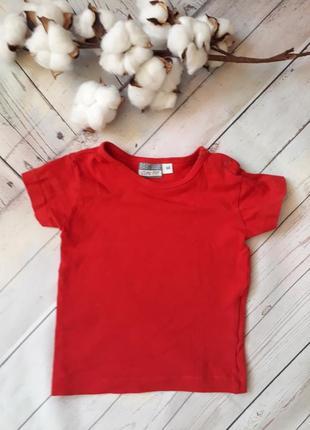 Красная футболка на 3-6 мес