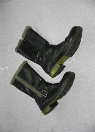 Сапоги ботинки демисезонные кожаные clarks 23.5 см стелька2
