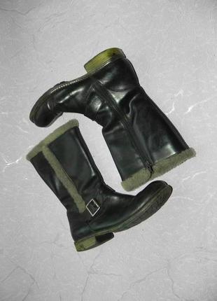 Сапоги ботинки демисезонные кожаные clarks 23.5 см стелька3