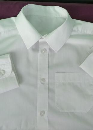 """Рубашка """"f&f"""" р.146-152 мальчику 11-12лет, школьная белая"""