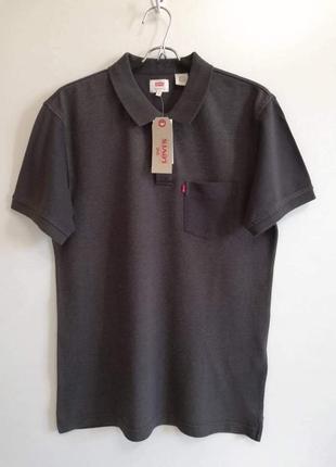 Мужская футболка поло levi's. оригинал.