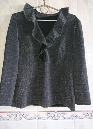 Роскошная блузка с воланами и блеском zara