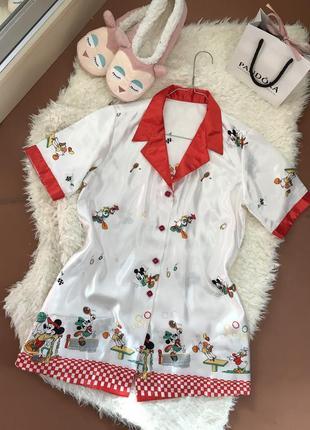 feece5bffb6 ... Шелковая пижамная кофта с микки маусом disney ❤️3 фото