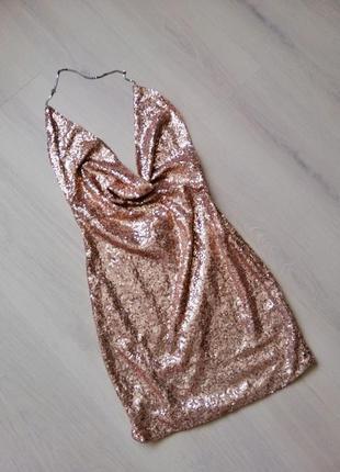 Розкішна золота сукня в паєтках!!