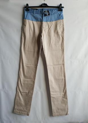 Мужские штаны брюки французского бренда promod сток из европы, xs-s