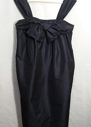 French connection, платье сарафан черное шелк