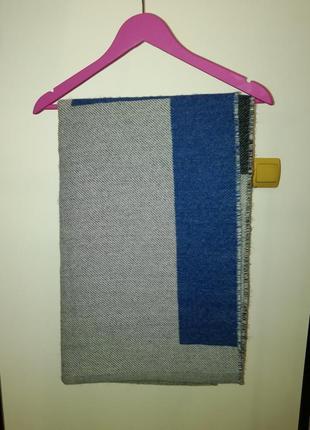 Теплющиц шерстяний шарф-плед