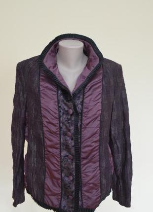 Шикарный качественный жакет-курточка комбинированный