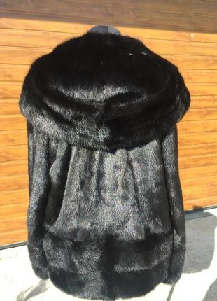Шуба норковая с капюшоном р46