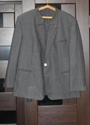 Стильный пиджак в альпийском  стиле alphorn 56 разм 100% шерсть