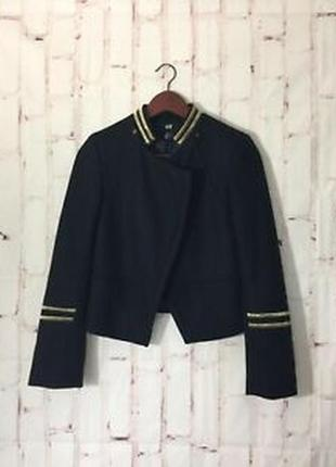 Короткое шерстяное пальто/блейзер h&m