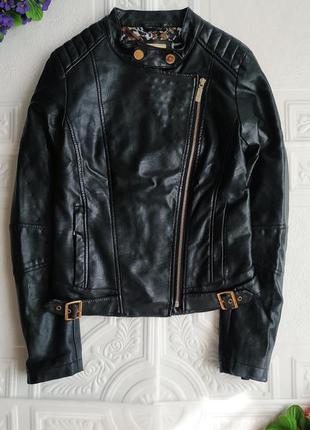 Демисезонная куртка косуха из экокожи2 фото