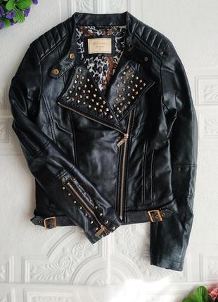 Демисезонная куртка косуха из экокожи