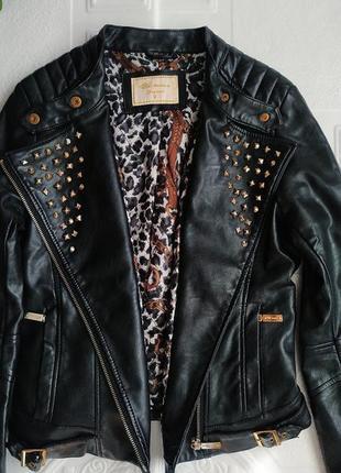 Демисезонная куртка косуха из экокожи5 фото