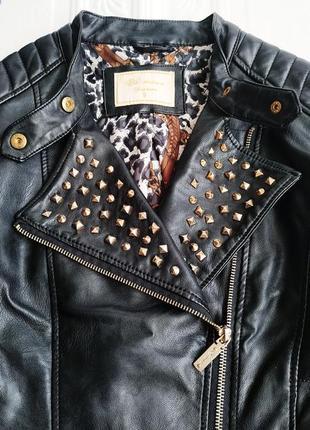 Демисезонная куртка косуха из экокожи3 фото
