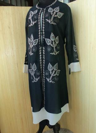 Марокканское платье туника с вышивкой / джелаба
