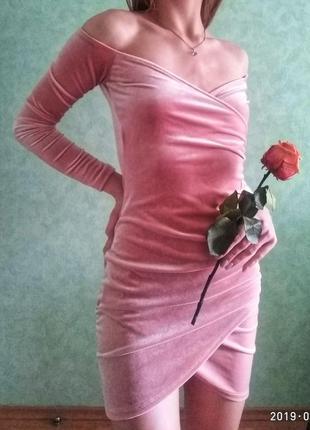 Бархатное мини платье s missguided
