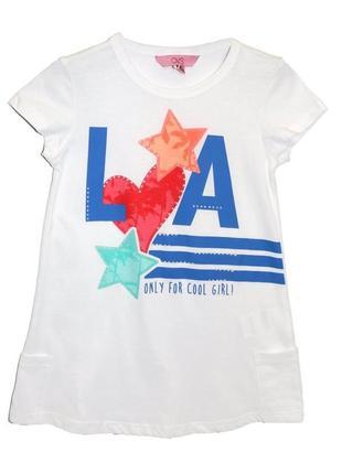 Новая футболка туника для девочки, ovs kids, 6734061