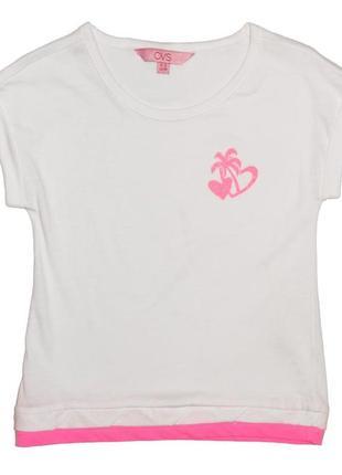 Новая белая футболка с принтом для девочки, ovs kids, 4185587