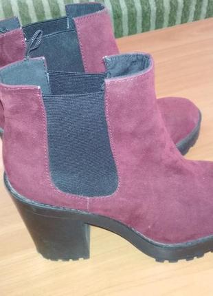 Замшивые осенние ботинки