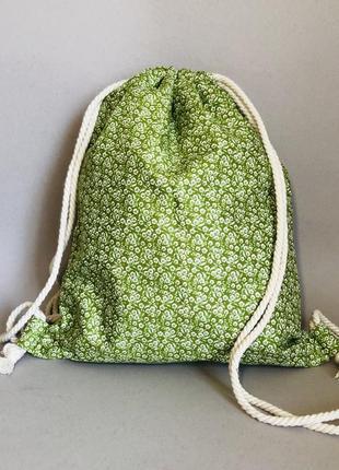 Хлопковый рюкзак, пляжный рукзак, пляжная сумка, эко сумка