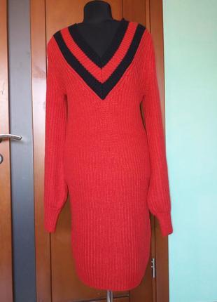 Платье свитер amisu крупная вязка супер супер