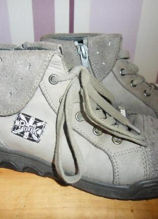 Замшевые ботиночки на весну bartek