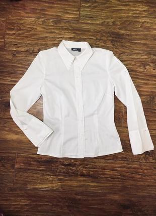 050a42cdbad Женская белая рубашка под запонки с запонками