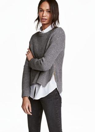 Базовый джемпер свитер кофта xs h&m