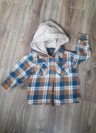 Стильная рубашка-кофта на мальчика 1 -1.5,2 года