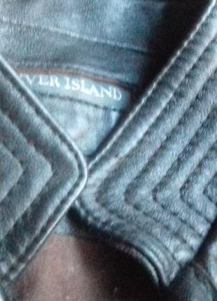 Приталенная короткая кожаная куртка 100%кожа6 фото