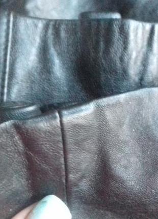 Приталенная короткая кожаная куртка 100%кожа7 фото