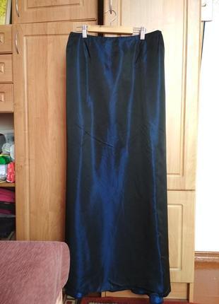 Темно-синяя юбка макси