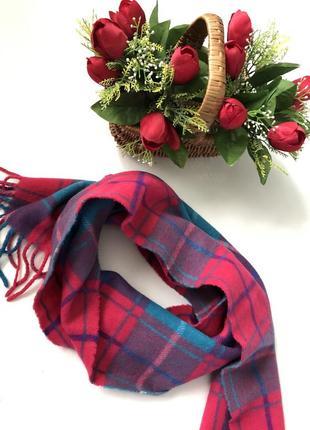 Трендовый шарф в клетку актуальной расцветки