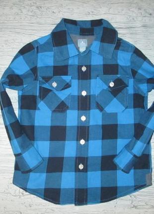 Котоновая рубашка в клетку фирмы гэп на 3-4 года