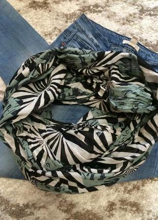 Фирменный яркий шарф-хомут accessorize из натуральной ткани,шарфик в подарок