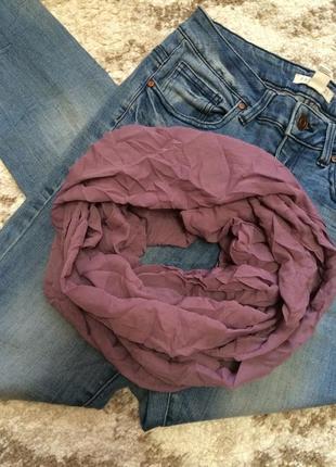 Яркий лавандовый шарф-хомут accessorize,легкий шарфик в подарок