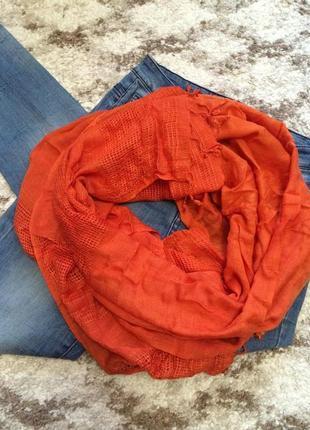 Фирменный шарф-платок accessorize из натуральной ткани,яркий шарфик в подарок