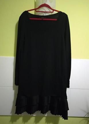 Красивое платье-свитер с плиссированым низом ангора coast