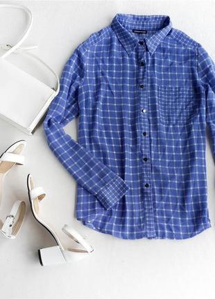 Шифоновая блуза в клетку warehouse