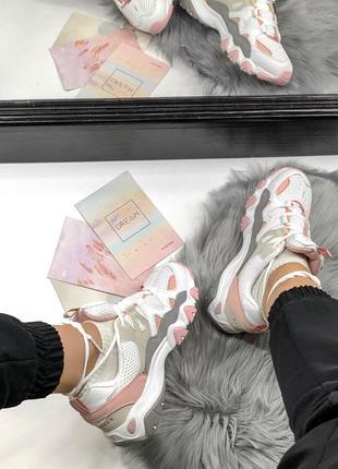 Шикарные женские кроссовки skechers d'lites pink/white 😍 (весна/ лето/ осень)5 фото