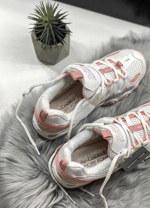 Шикарные женские кроссовки skechers d'lites pink/white 😍 (весна/ лето/ осень)3 фото