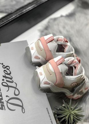 Шикарные женские кроссовки skechers d'lites pink/white 😍 (весна/ лето/ осень)8 фото