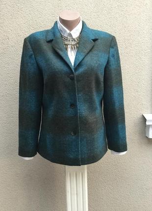 Шерстяной жакет,пиджак,кардиган,легкое полупальто,большой размер